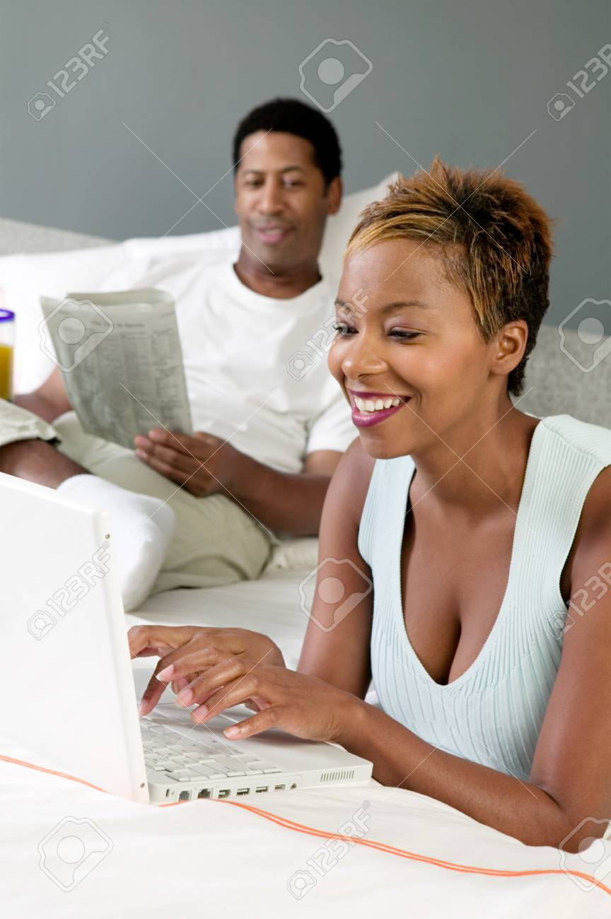 Woman Using Laptop Stock Photo - 5419993