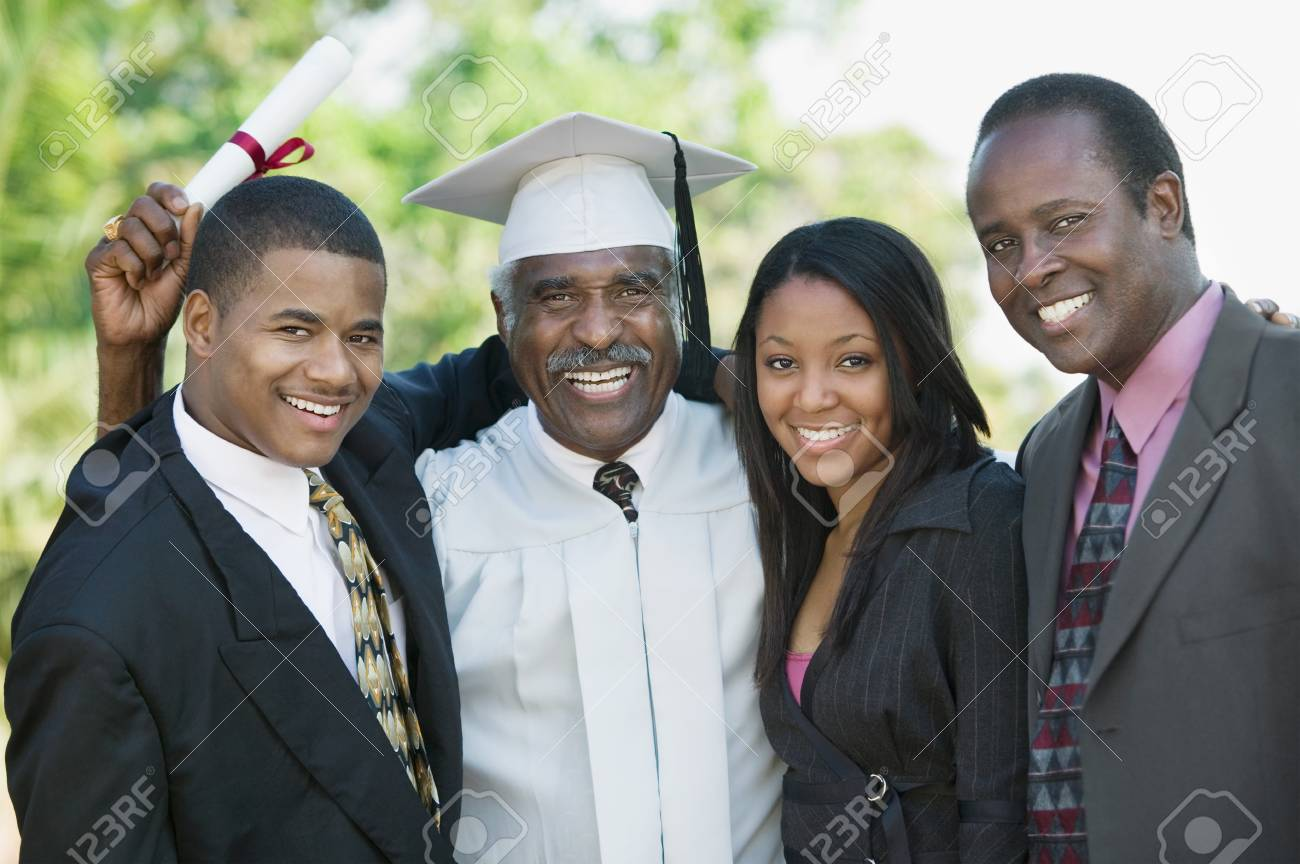 Graduate with Sons and Daughter Stock Photo - 5428446