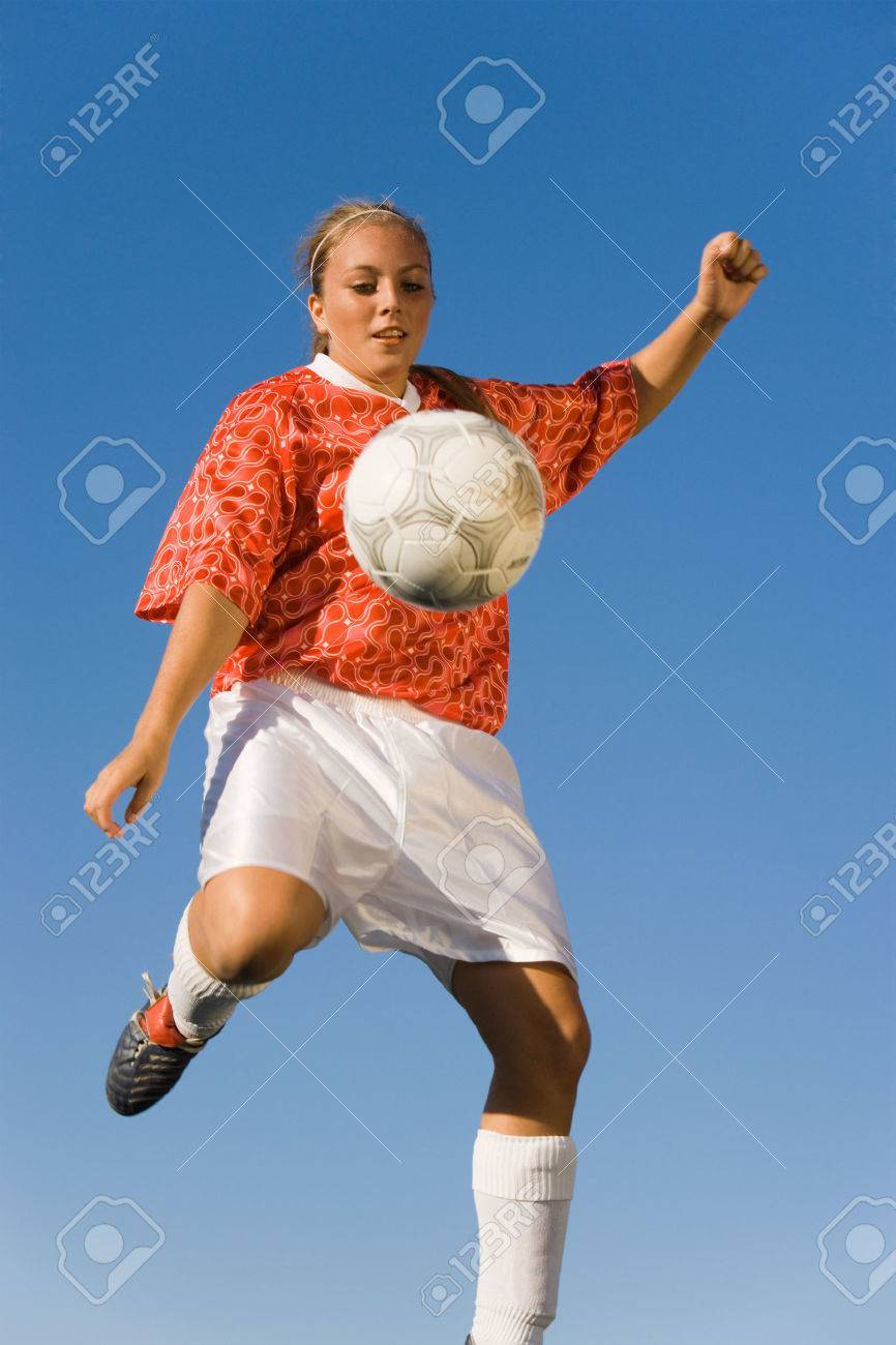 Soccer Player Kicking Ball Stock Photo - 5435743