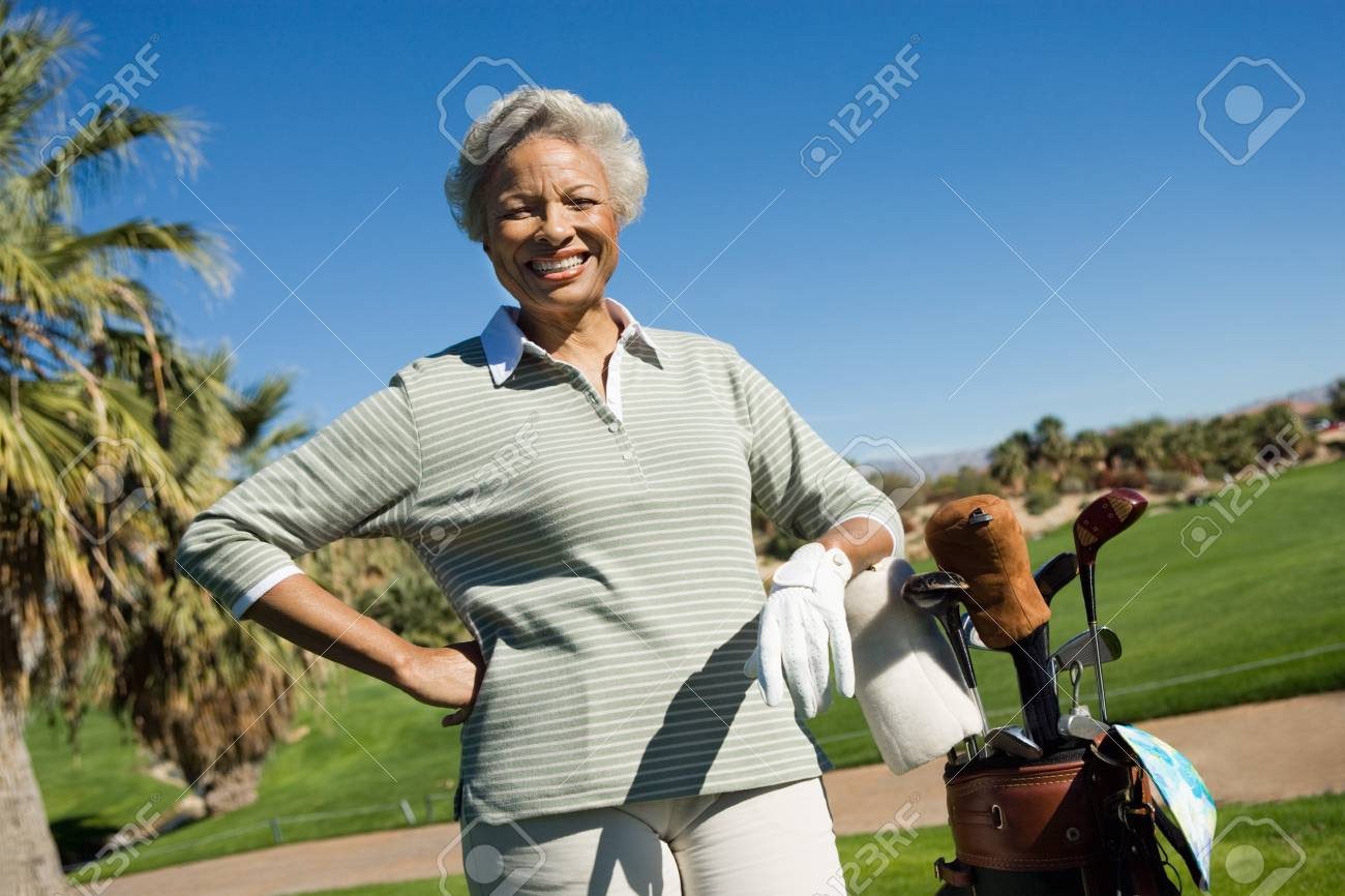 Woman on Golf Course Stock Photo - 5435762