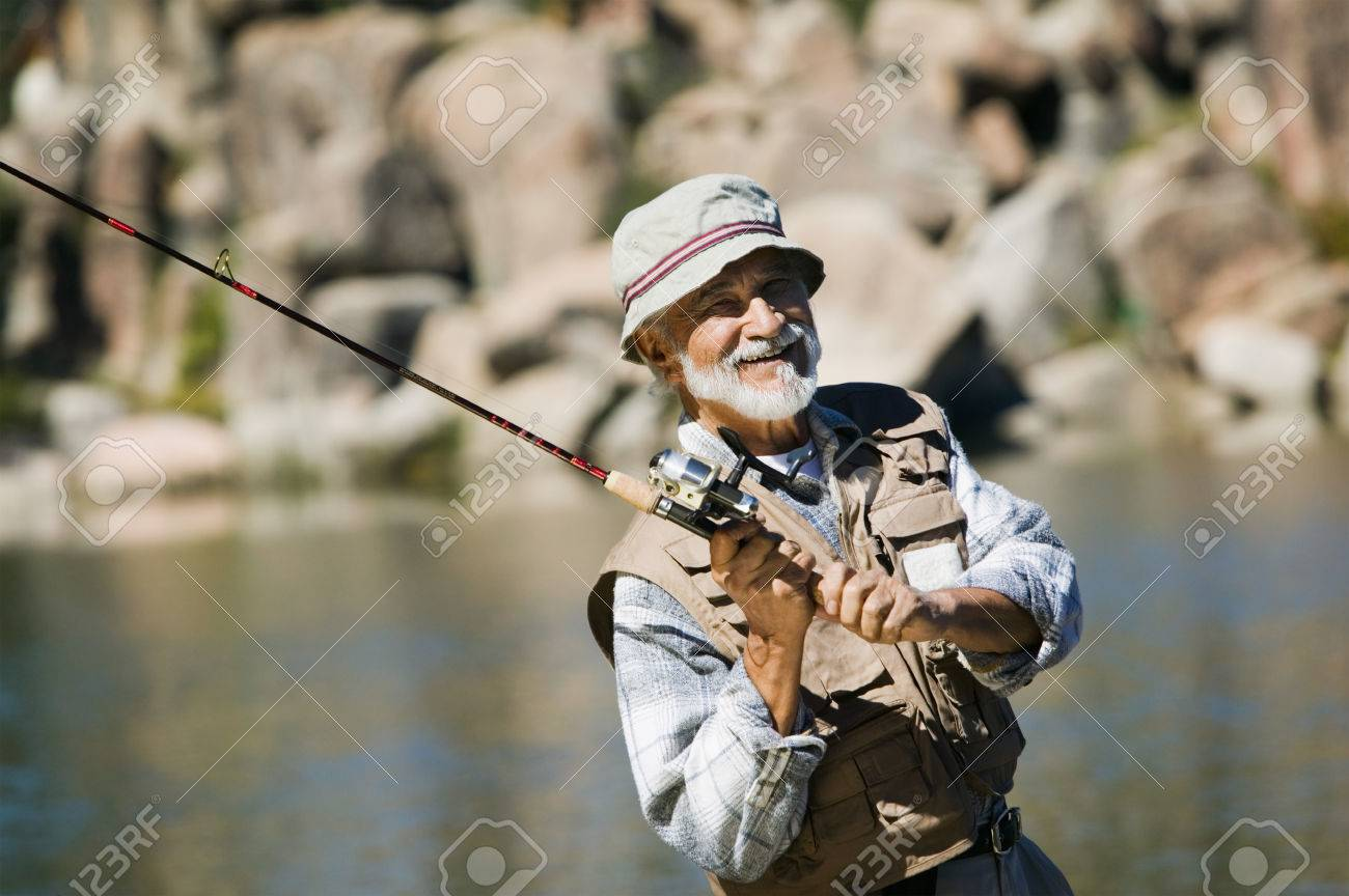 Fisherman Casting Stock Photo - 5435790