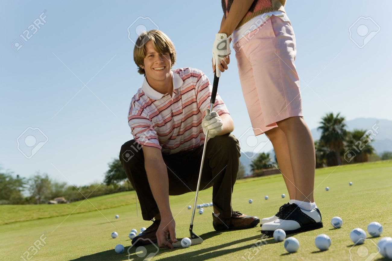 Golf Instructor with Student Stock Photo - 5435971