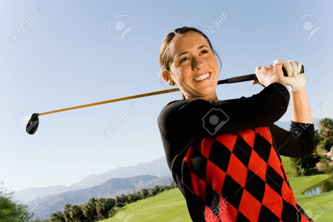 Golfer Watching Ball Drop Stock Photo - 5435979