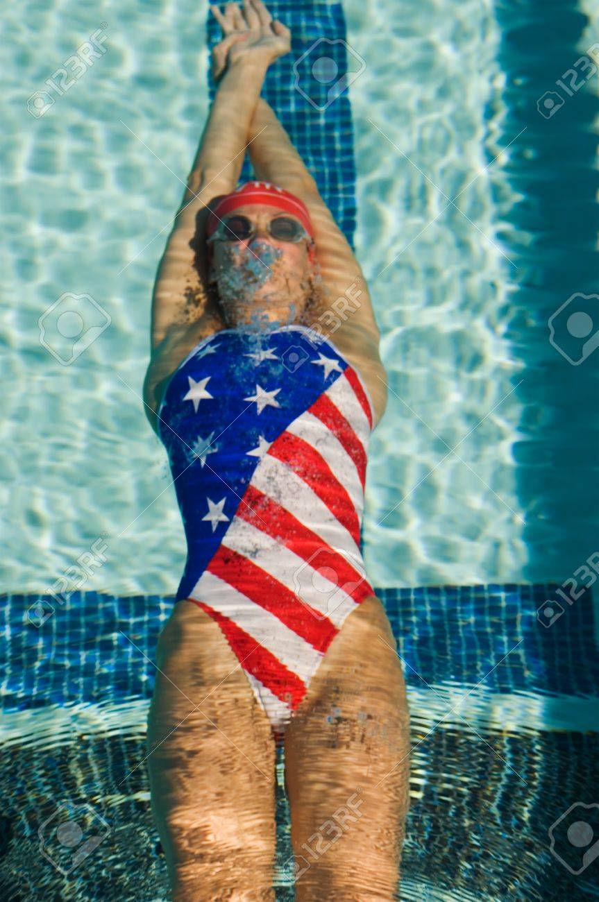Swimmer Underwater Stock Photo - 5436211
