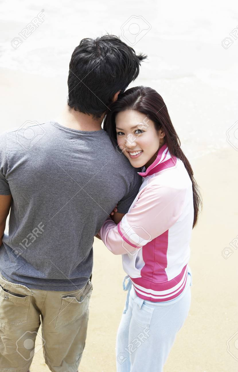 Young Couple on the Beach Stock Photo - 5438353