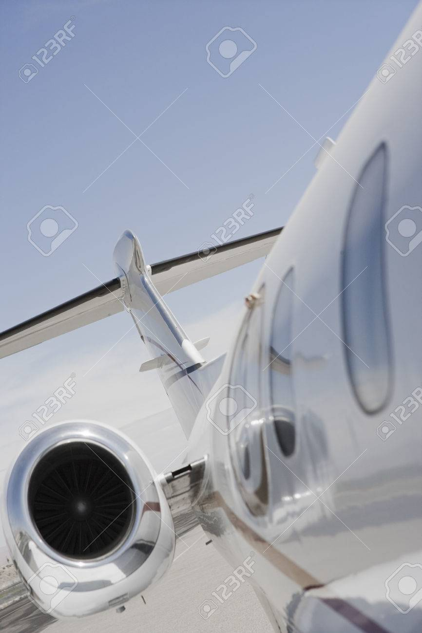 Part of private airplane. Stock Photo - 5475075
