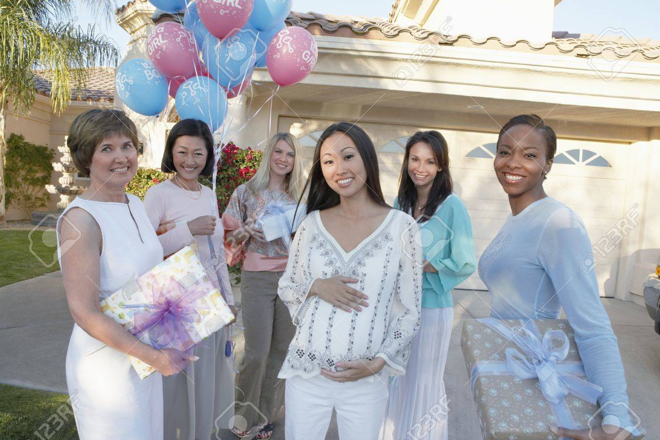 Group Of Friends Heading To A Baby Shower Stock Photo Picture And Royalty Free Image Image 5475209