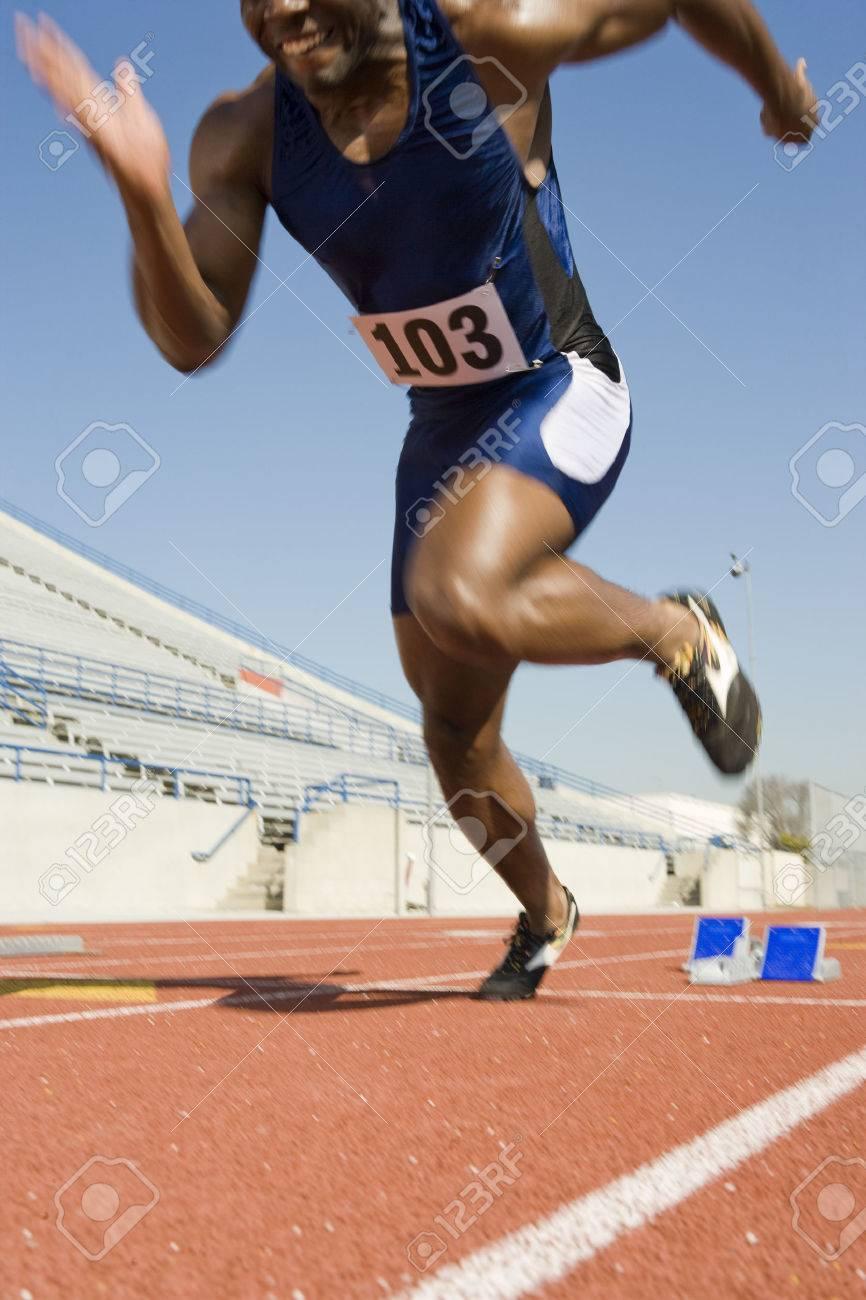 Athlete starting to run Stock Photo - 5475952