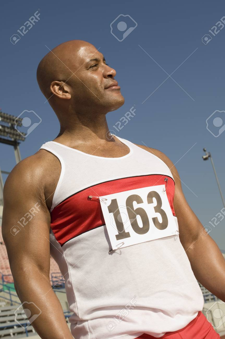Runner on a track Stock Photo - 5476072