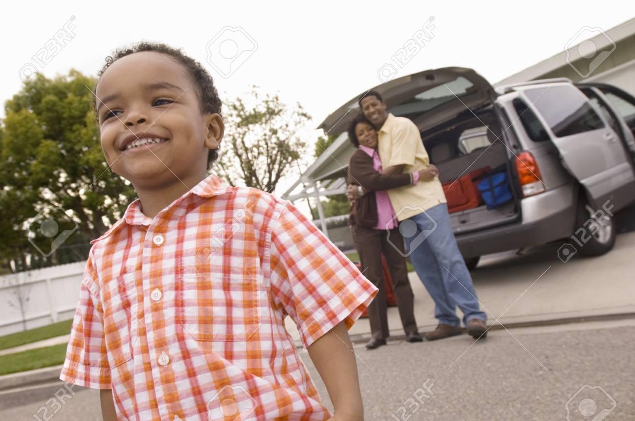 Boy Looking Around Neighborhood Stock Photo - 5476431