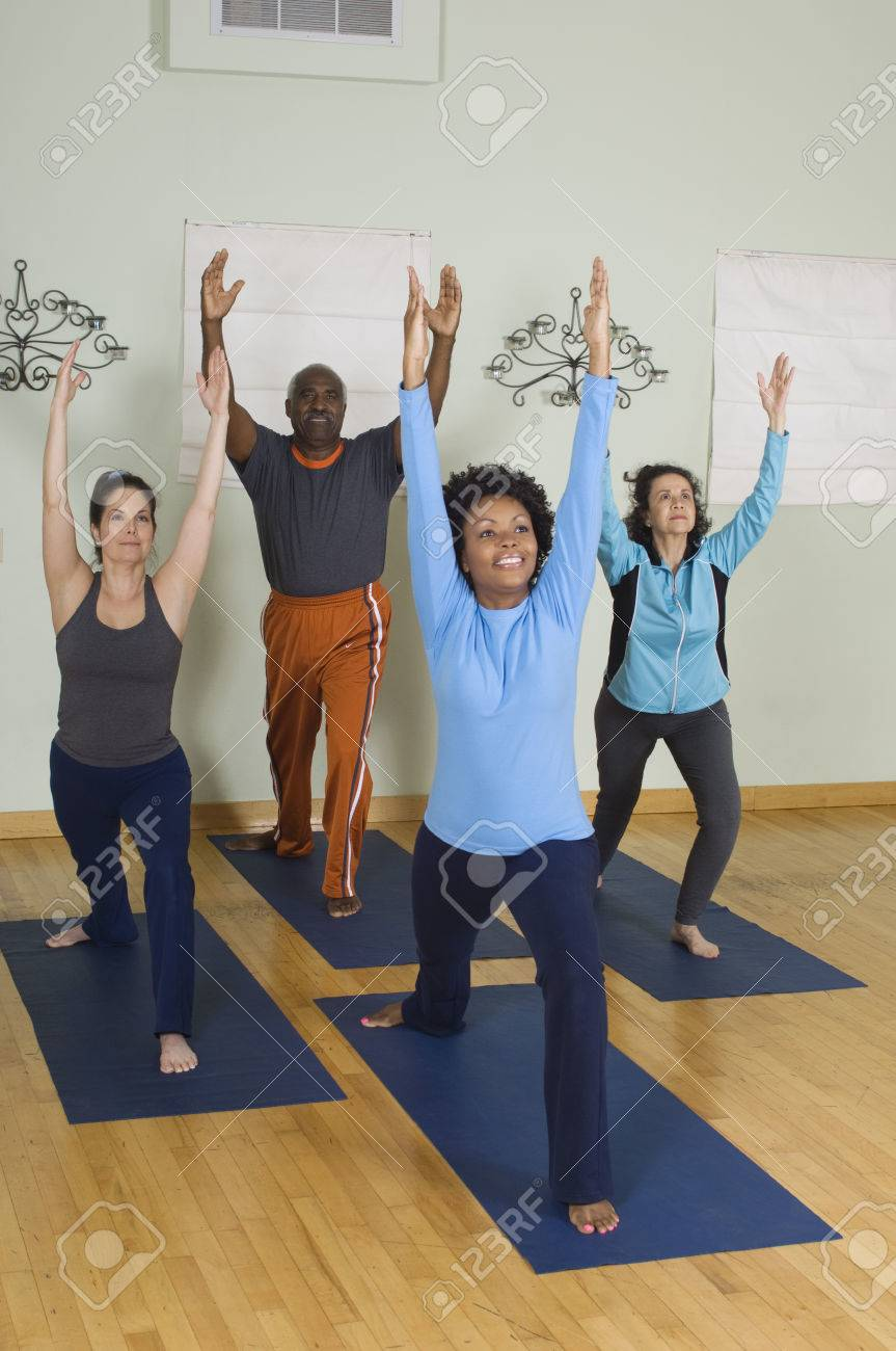 Stretching in Yoga Class Stock Photo - 5478258