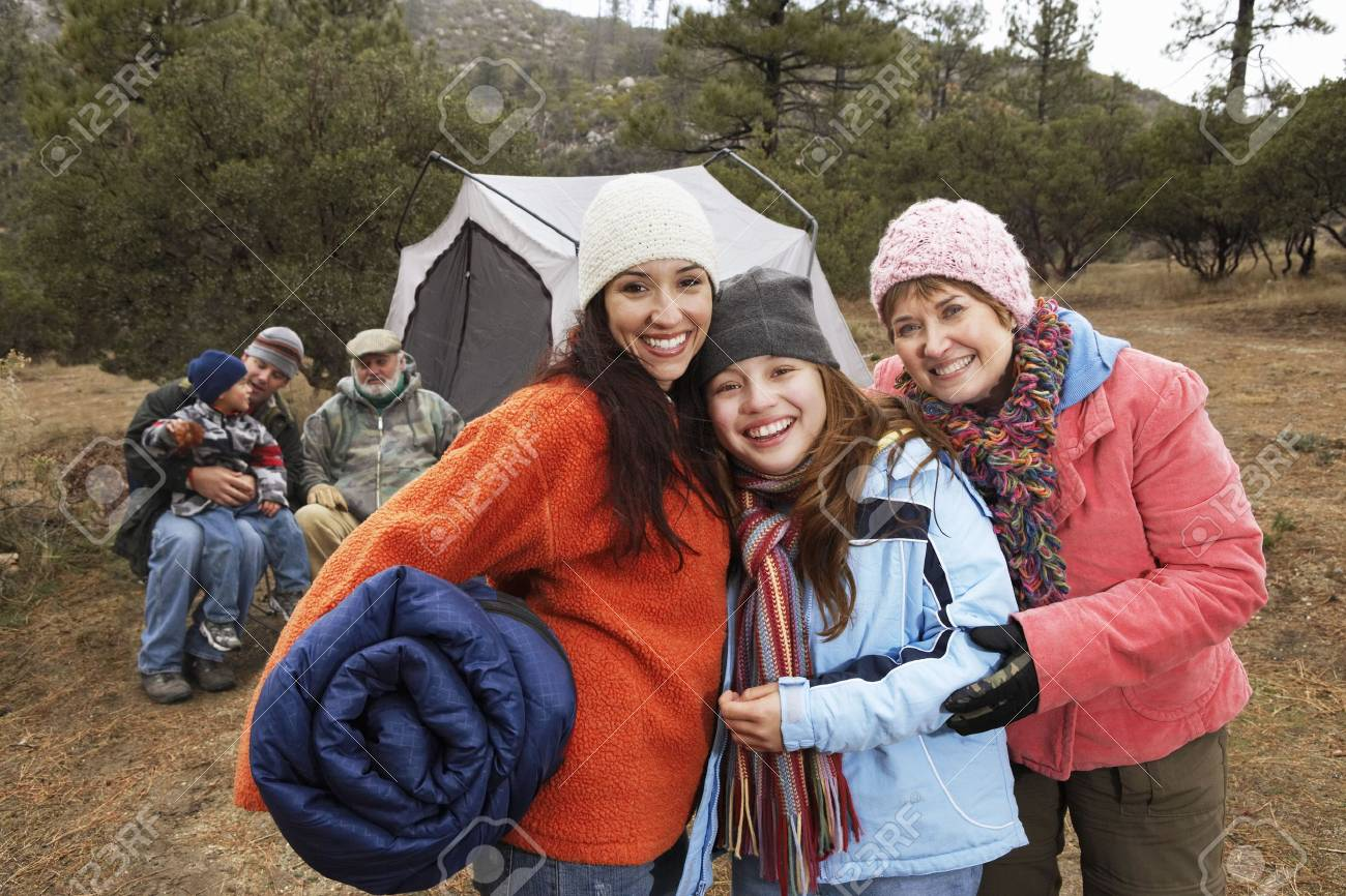 Family Camping Together Stock Photo - 5478315