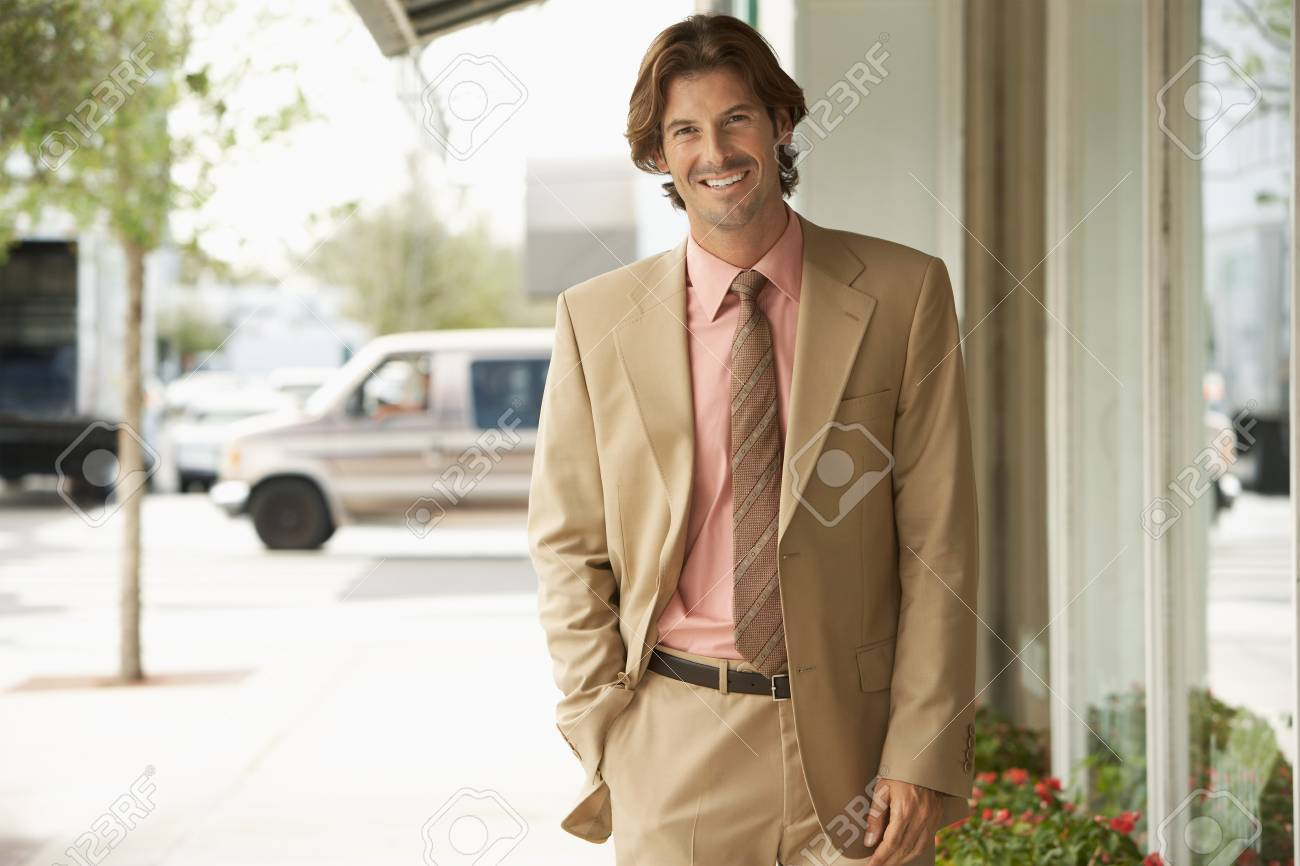 Businessman on Street Stock Photo - 5478475