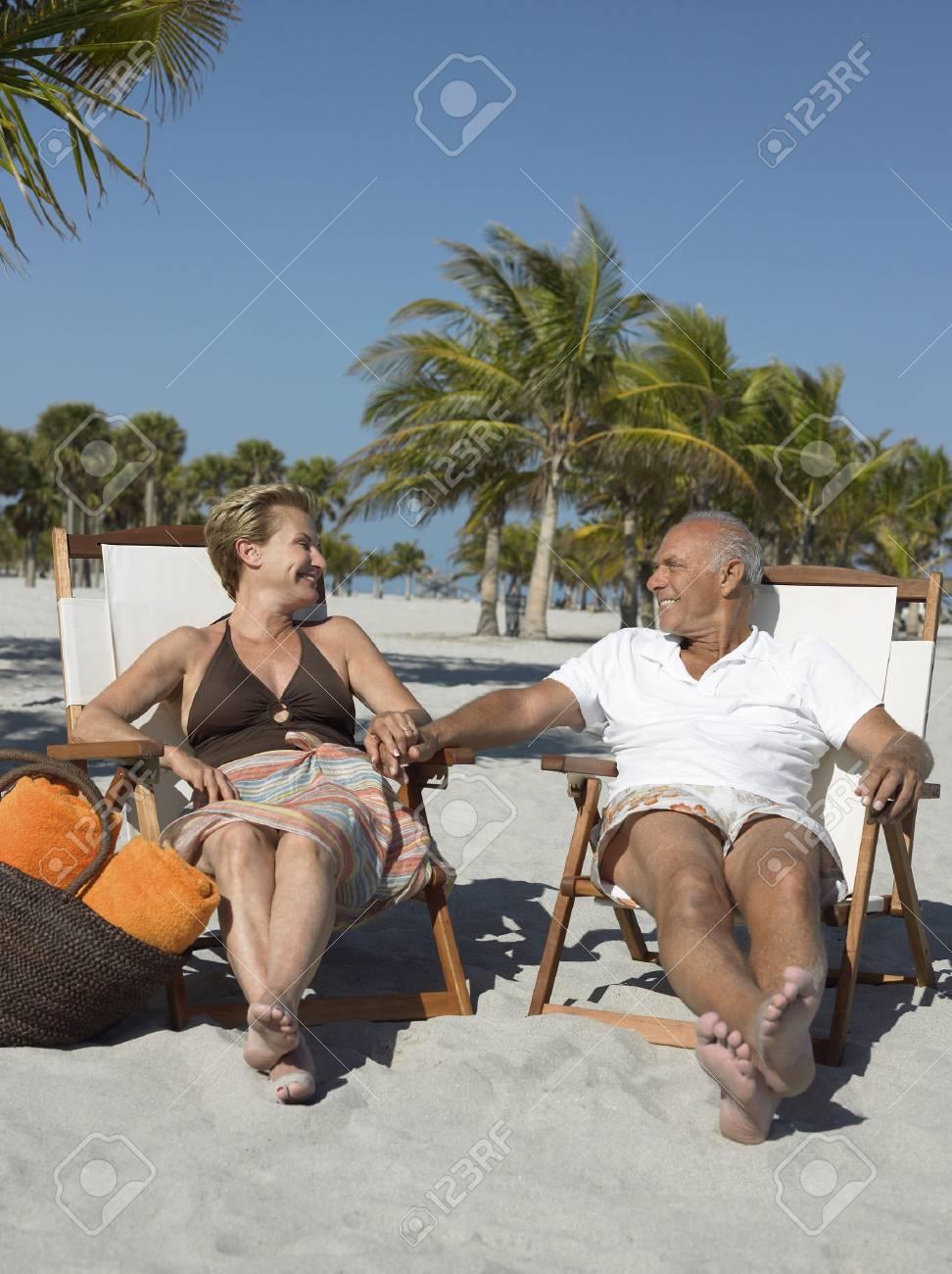 Older Couple on Beach Stock Photo - 5478613