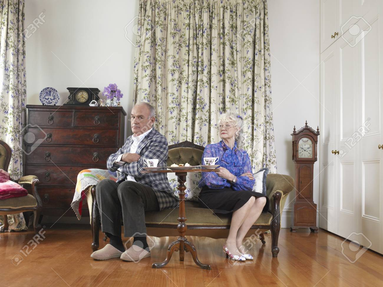 Senior Couple Having a Spat Stock Photo - 5436084