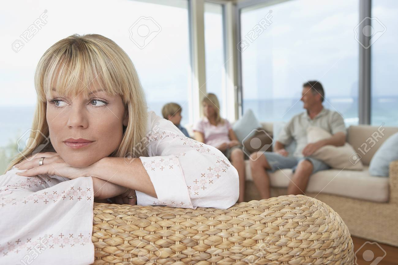 Woman with Family Stock Photo - 5487669