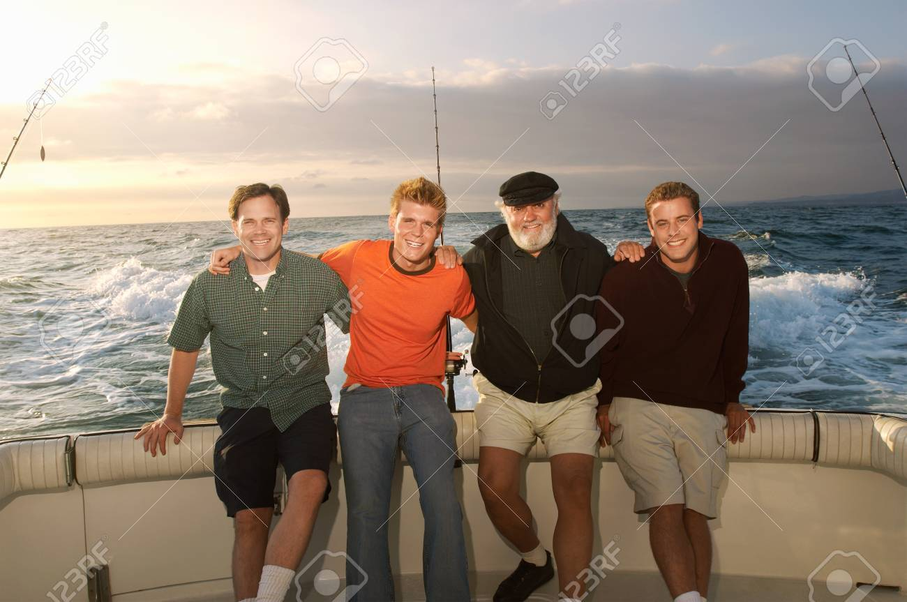 Family on fishing boat (portrait) Stock Photo - 8837314