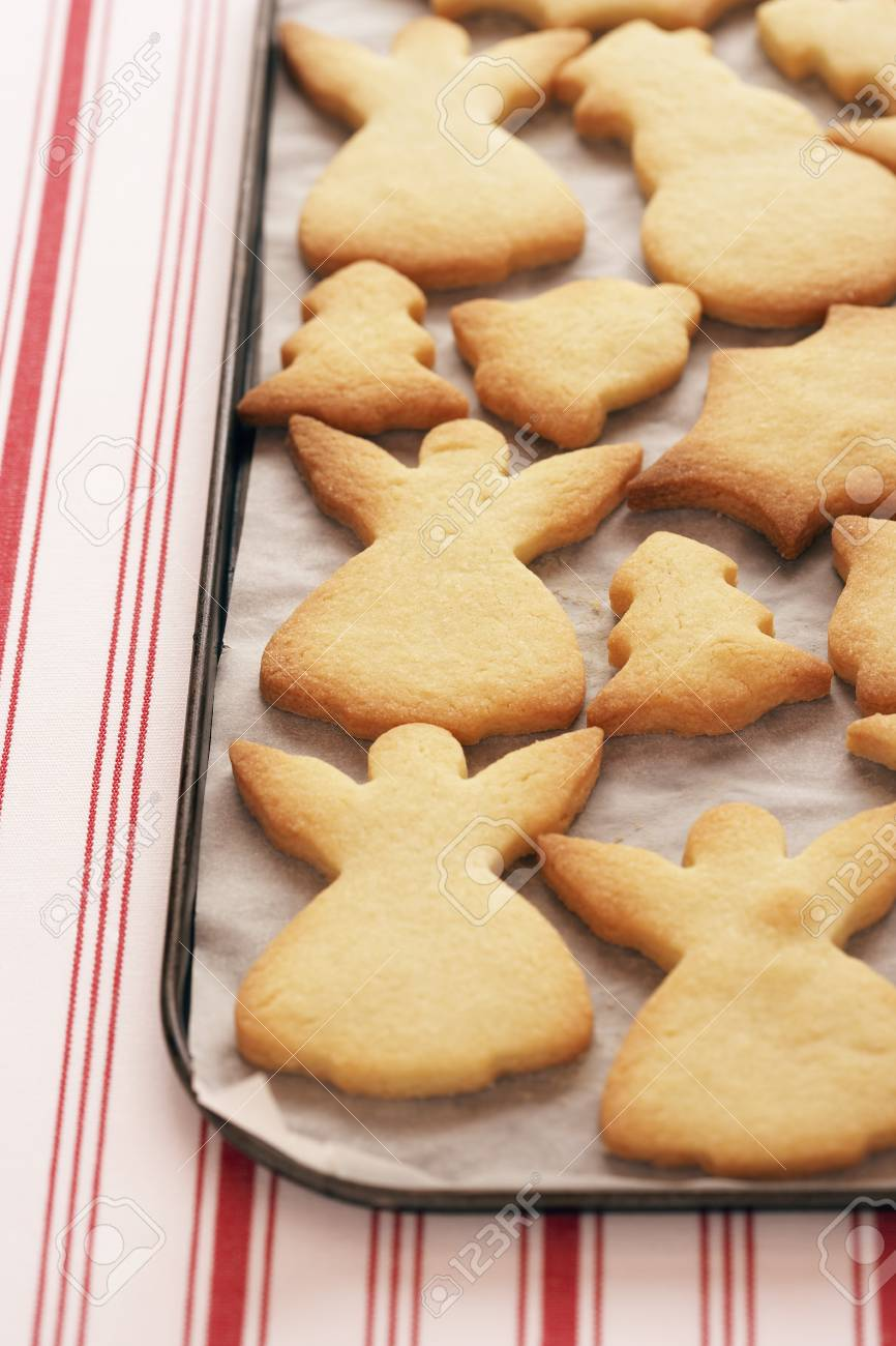 Christmas cookies on tray close-up Stock Photo - 8844639