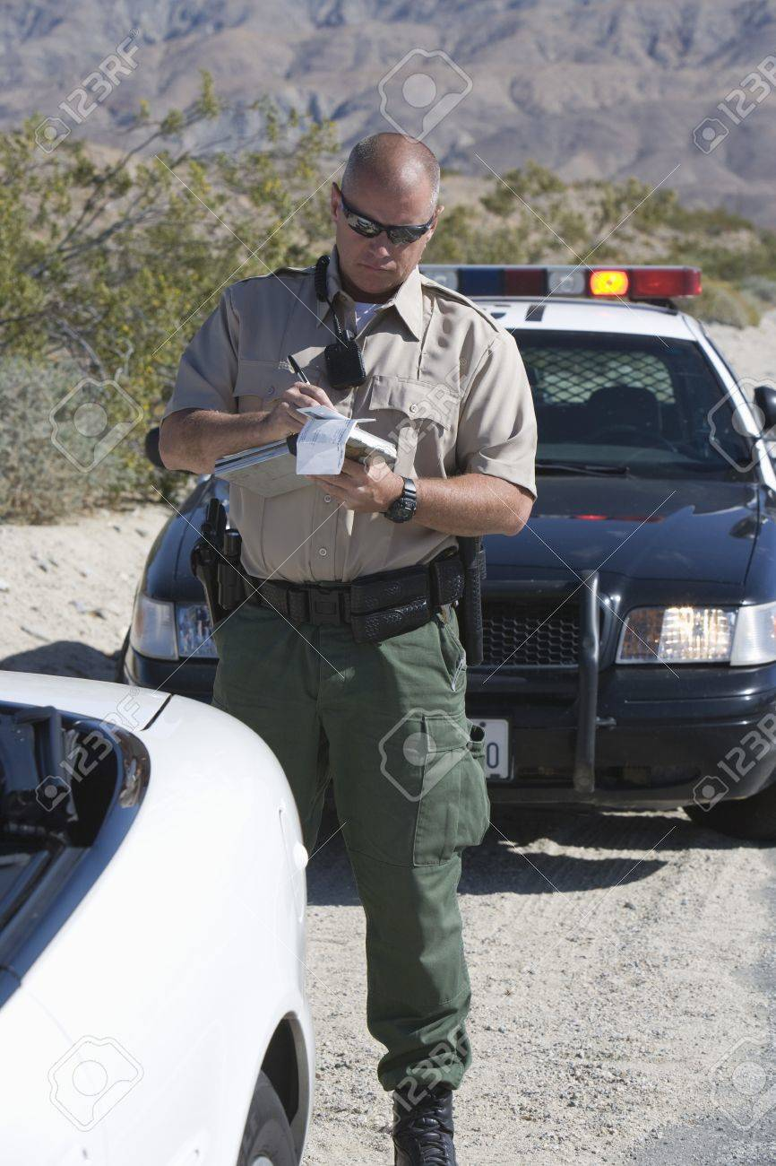 Police officer takes car details Stock Photo - 12513789