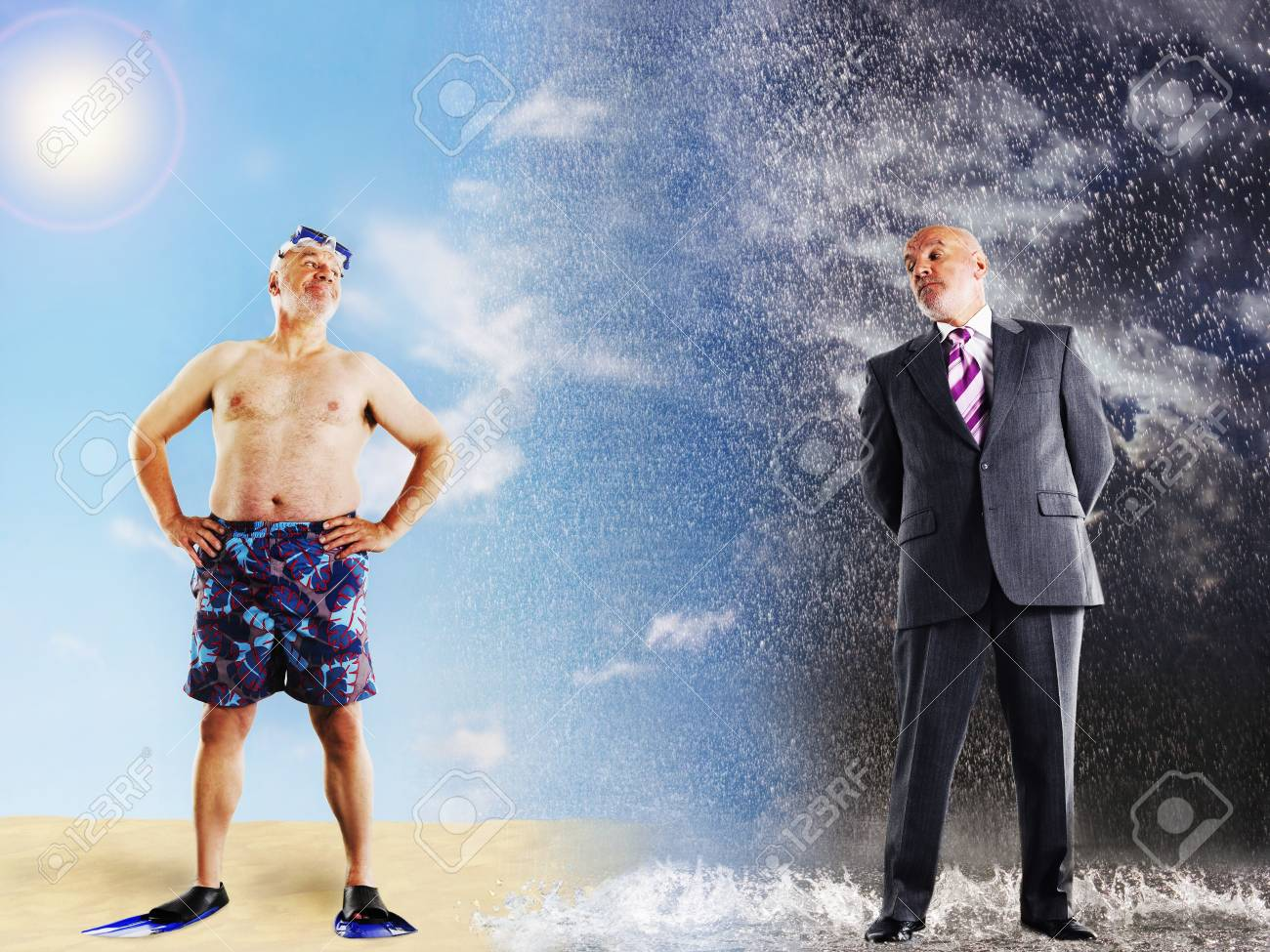 Businessman dreaming about vacation Stock Photo - 12514120