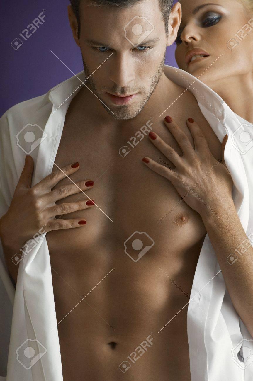 Woman embracing man close-up portrait Stock Photo - 12547709