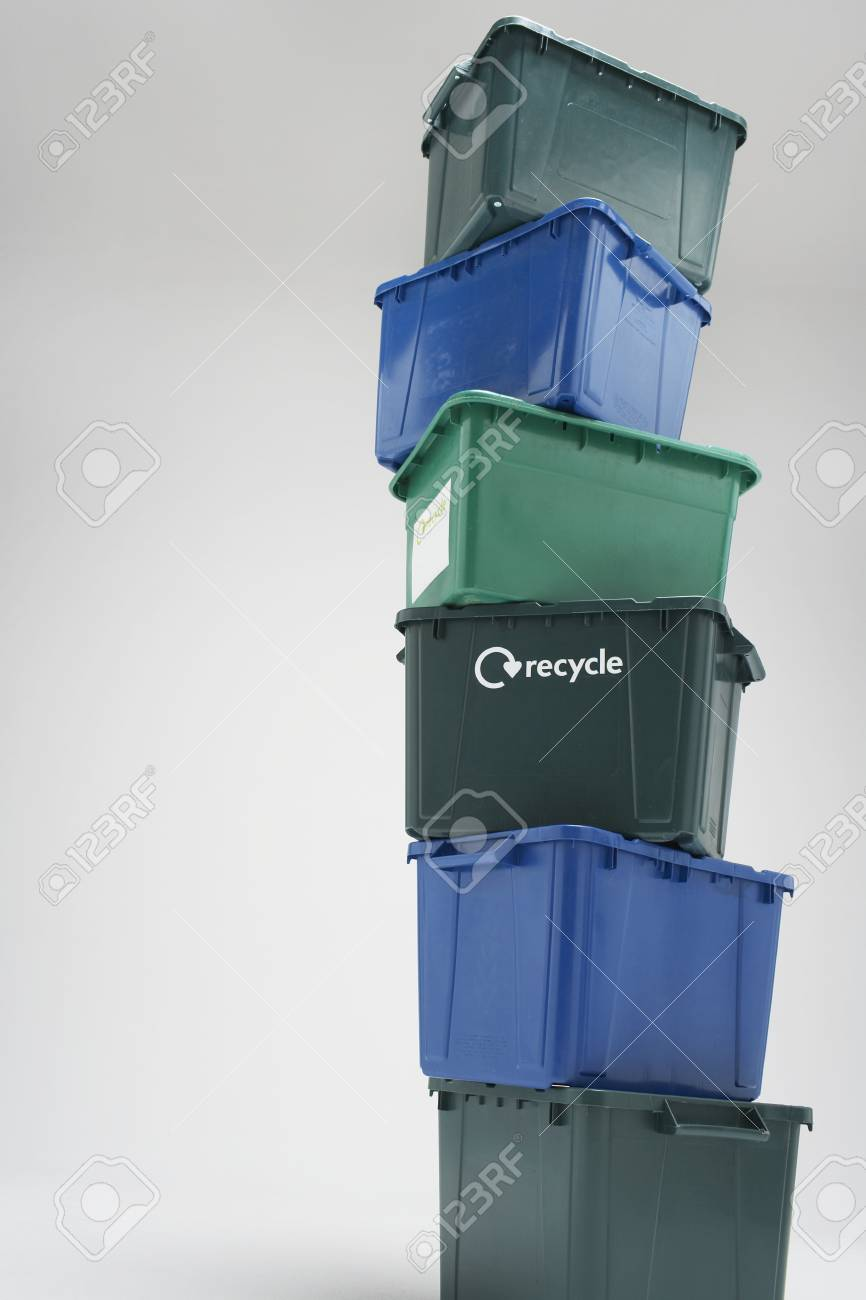 Stack of Empty Recycling Boxes Stock Photo - 12547858