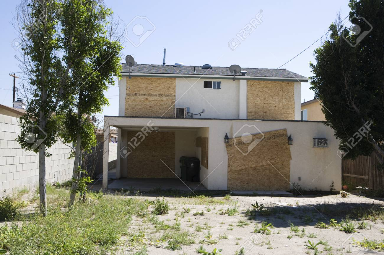 Boarded Up House Stock Photo - 12548169