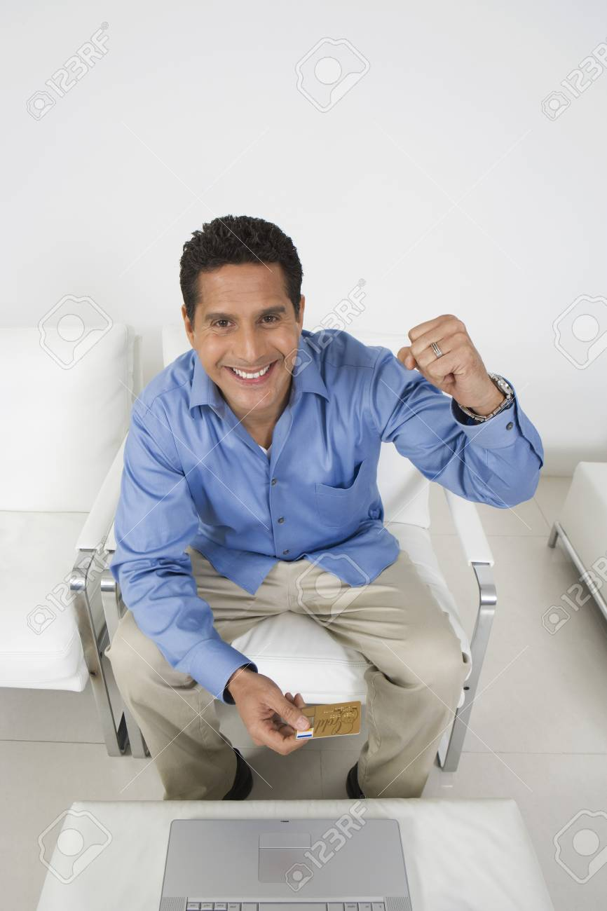 Man Holding Credit Card Stock Photo - 12548266