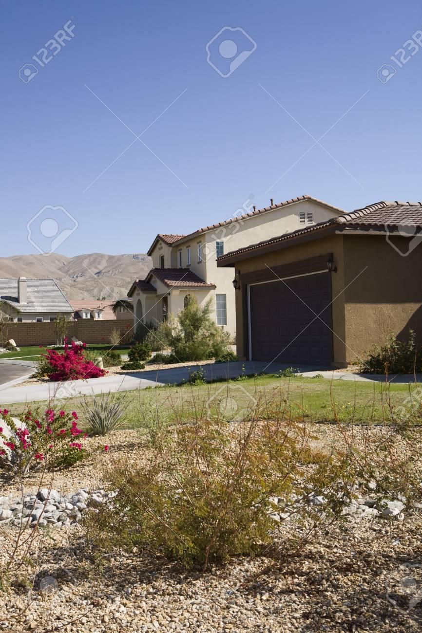 Yard in New Housing Development Stock Photo - 12548462