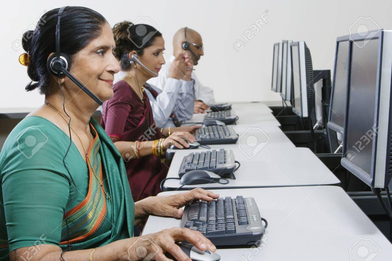 customer service reps in call center stock photo picture and customer service reps in call center stock photo 12592373