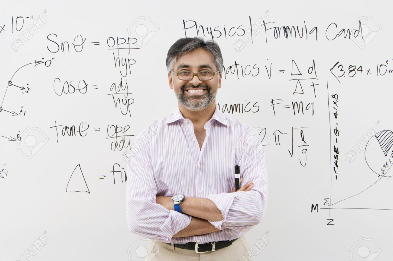 Scientist Standing in Front of Whiteboard Stock Photo - 12592378