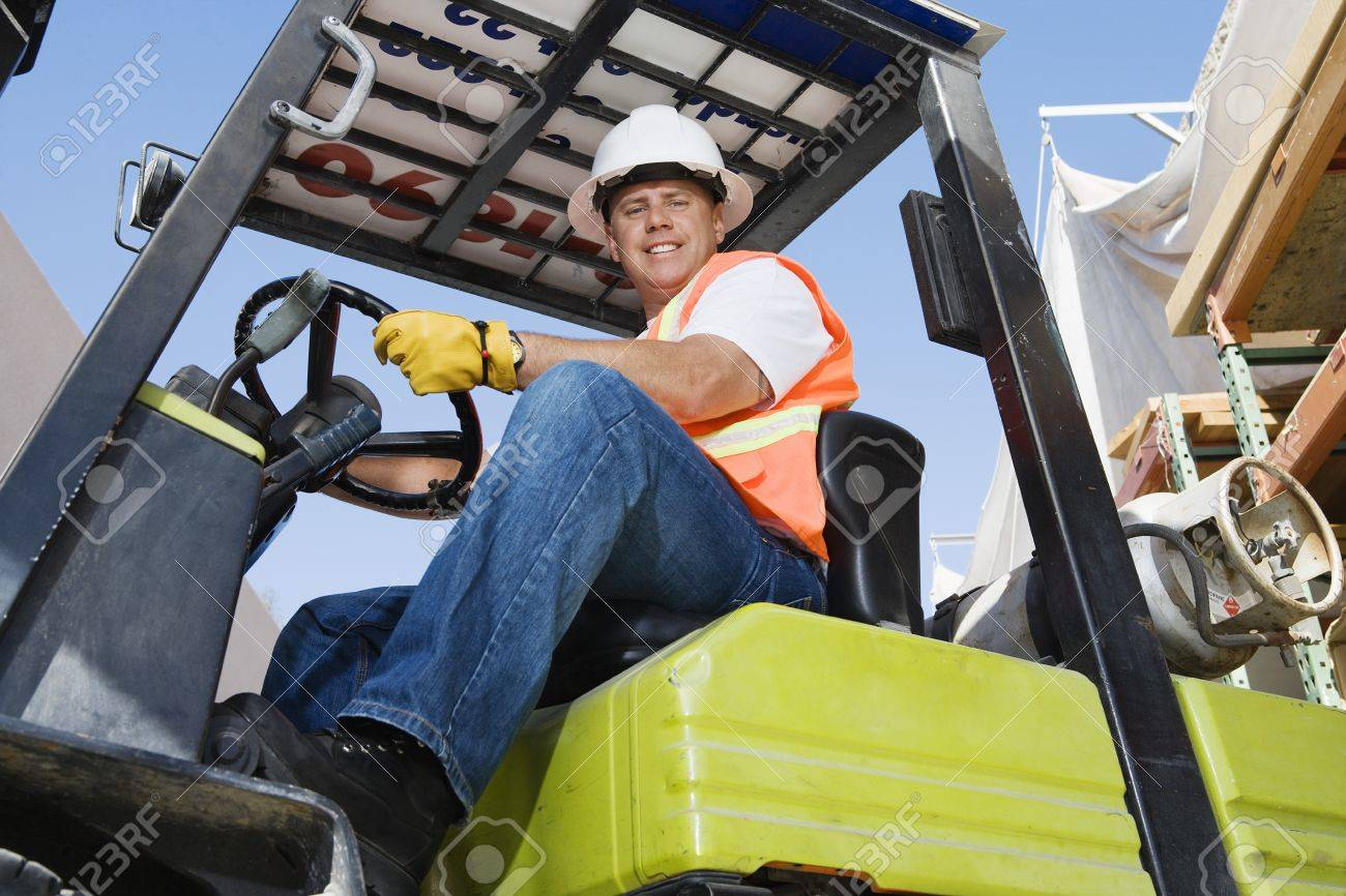 Forklift Driver Stock Photo - 12592653