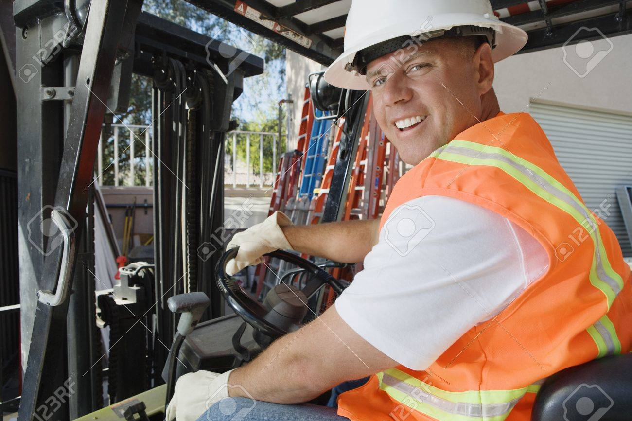 Forklift Driver Stock Photo - 12592658