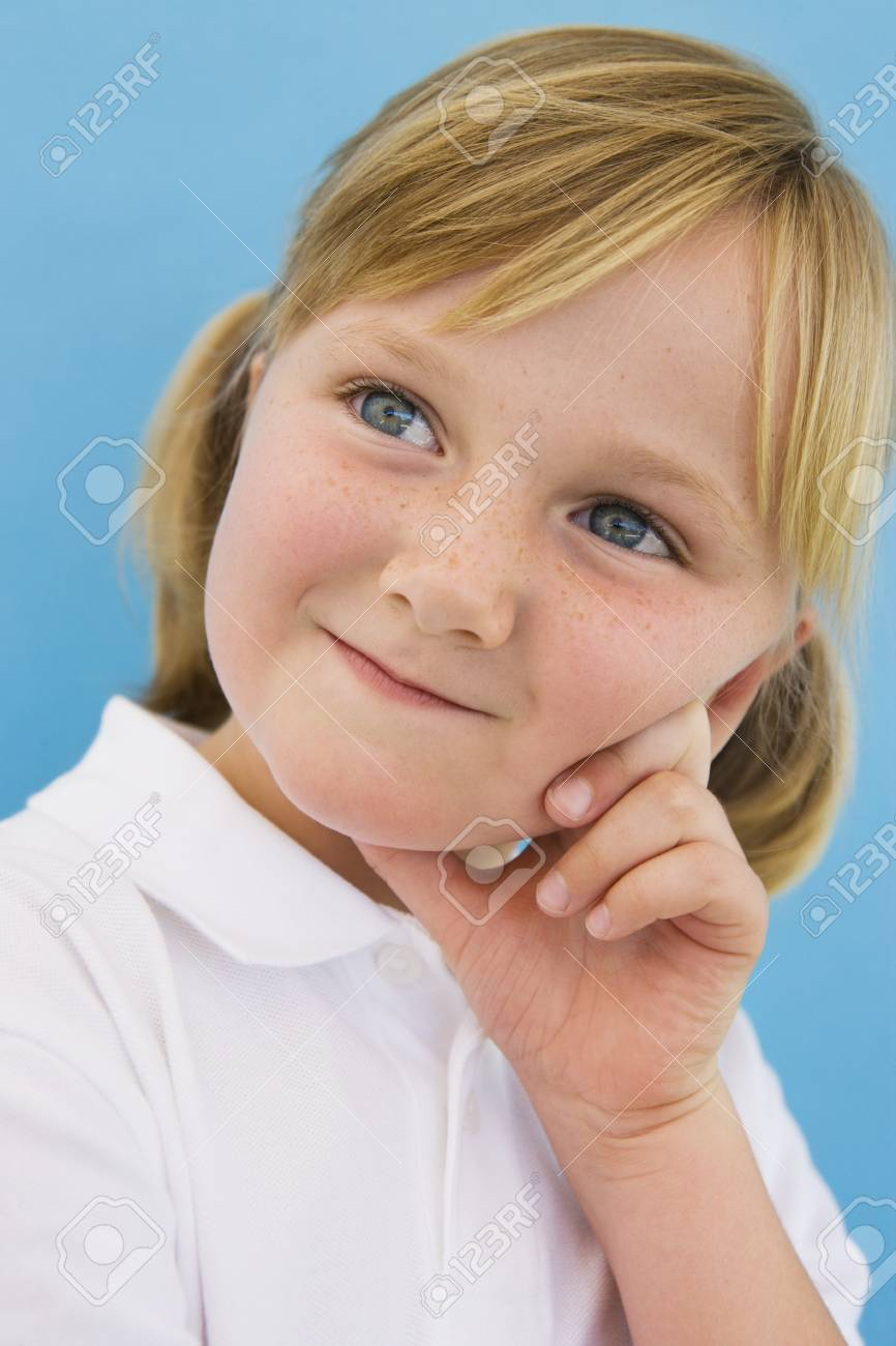Girl with Hand on Face Stock Photo - 12736386