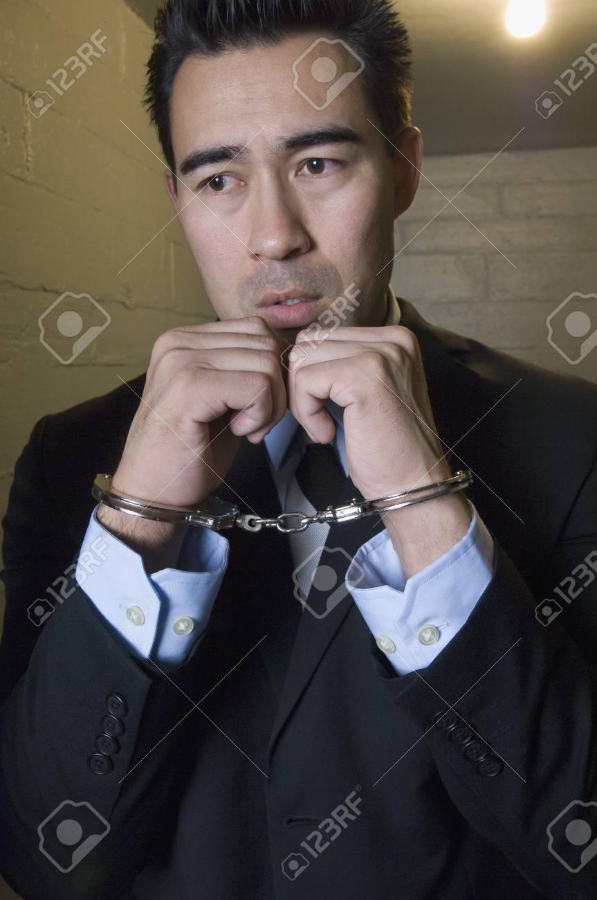 Man in handcuffs Stock Photo - 12736458
