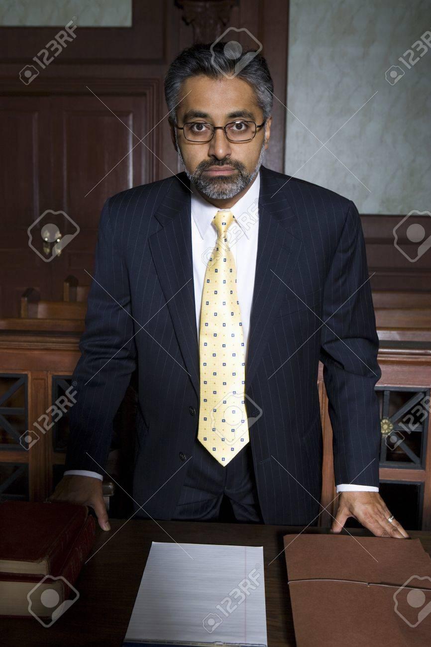 Man wearing suit in court portrait Stock Photo - 12736523