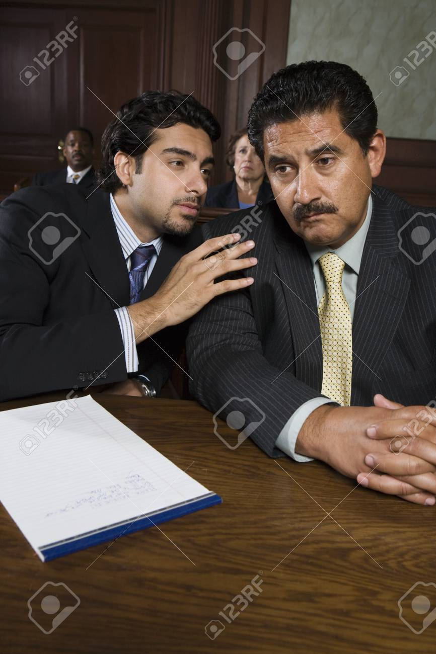 Two men sitting in court Stock Photo - 12736565