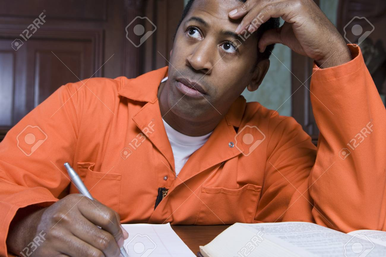Criminal writing in court Stock Photo - 12736583