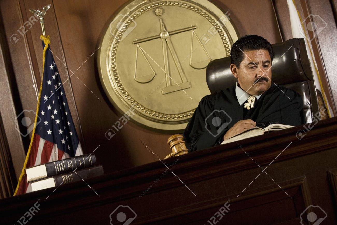 Judge reading in court Stock Photo - 12736620
