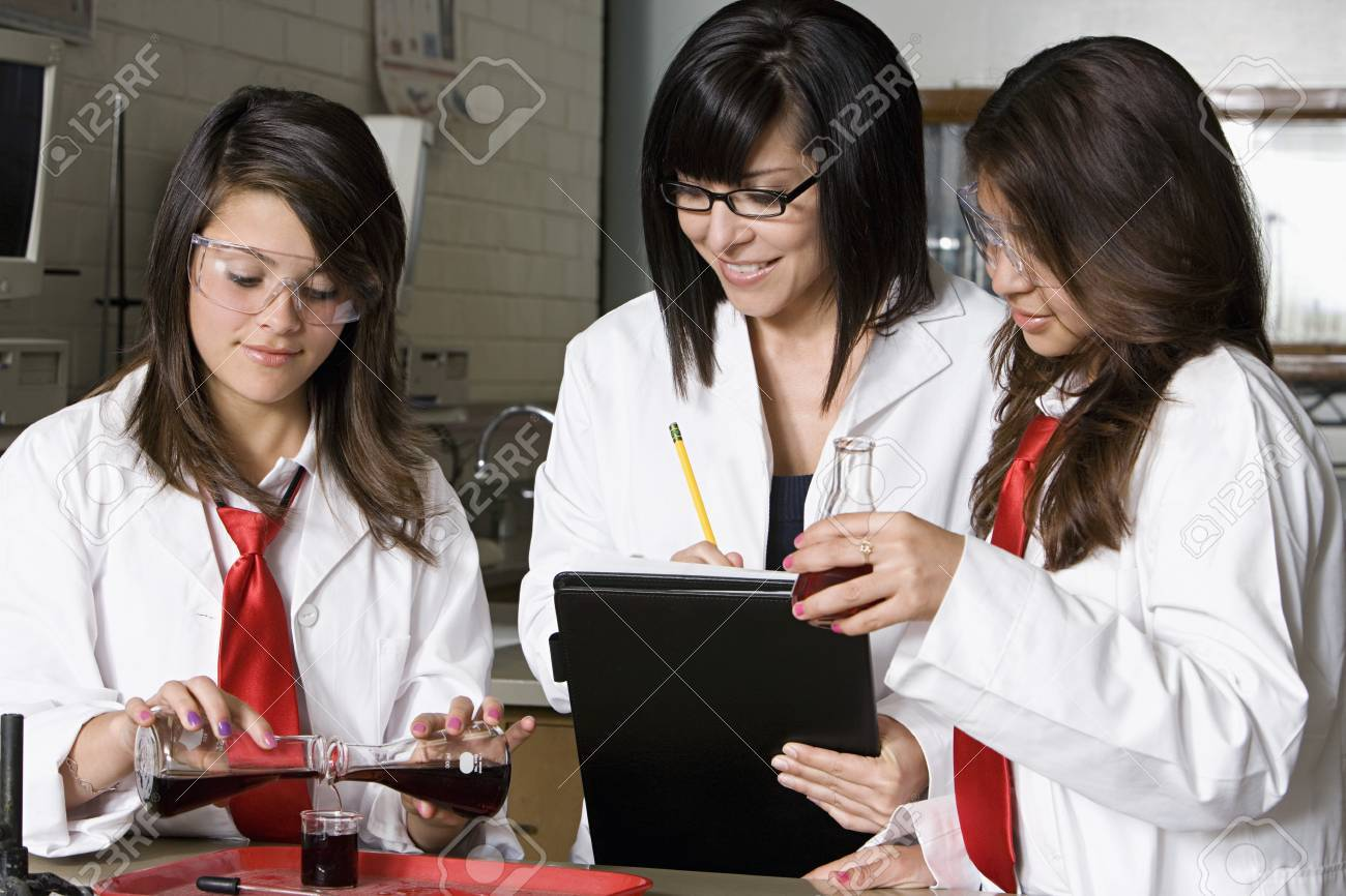 High School Science Students Stock Photo - 12736811