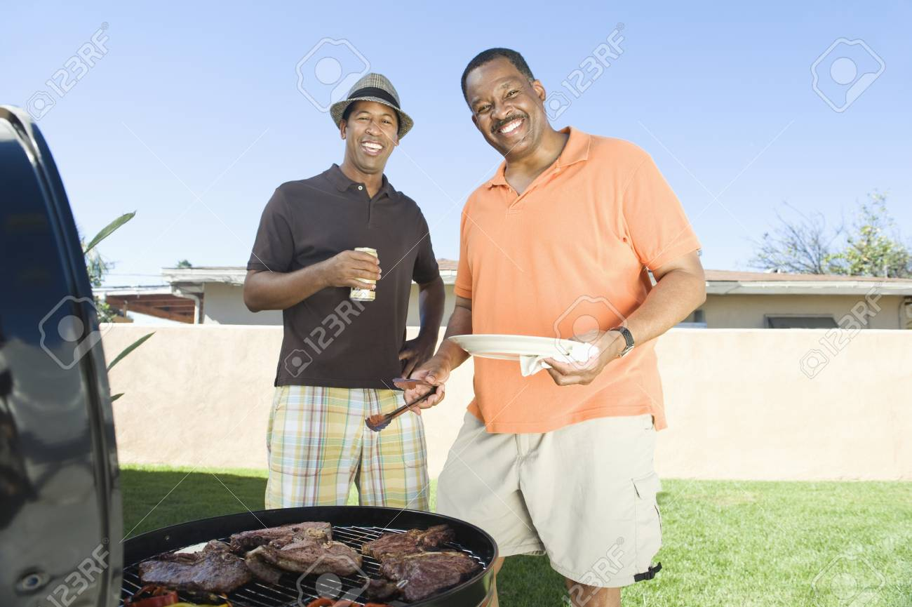 Friends at a barbeque Stock Photo - 12737533
