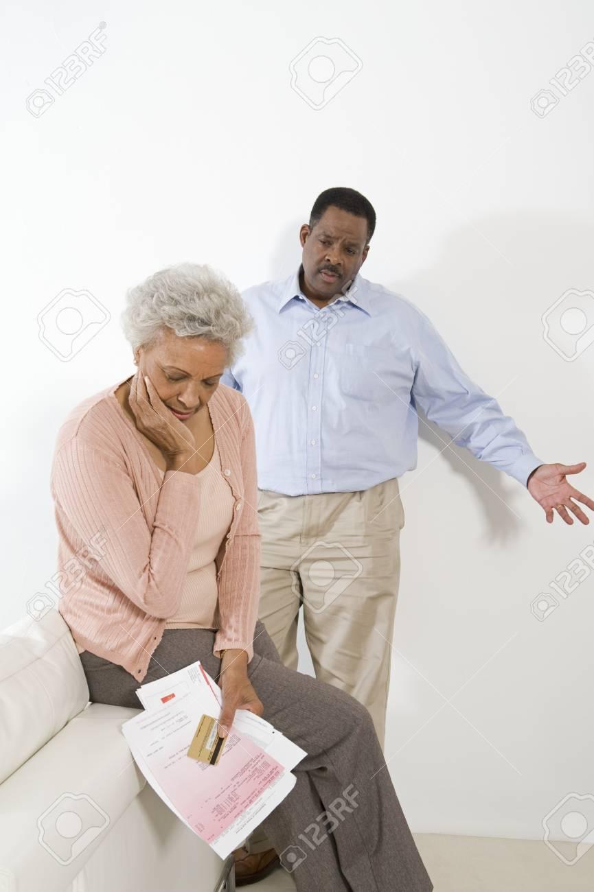 Senior Couple Having Financial Difficulties Stock Photo - 12735370