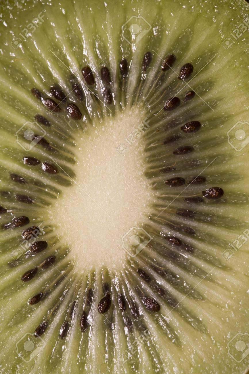 Close-Up View Of Sliced Kiwi Fruit Stock Photo - 12737857