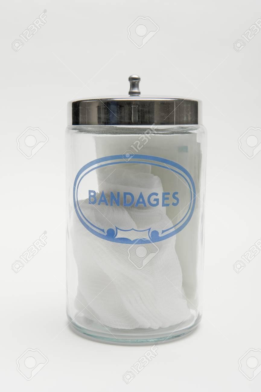 Jar of bandages Stock Photo - 12737872
