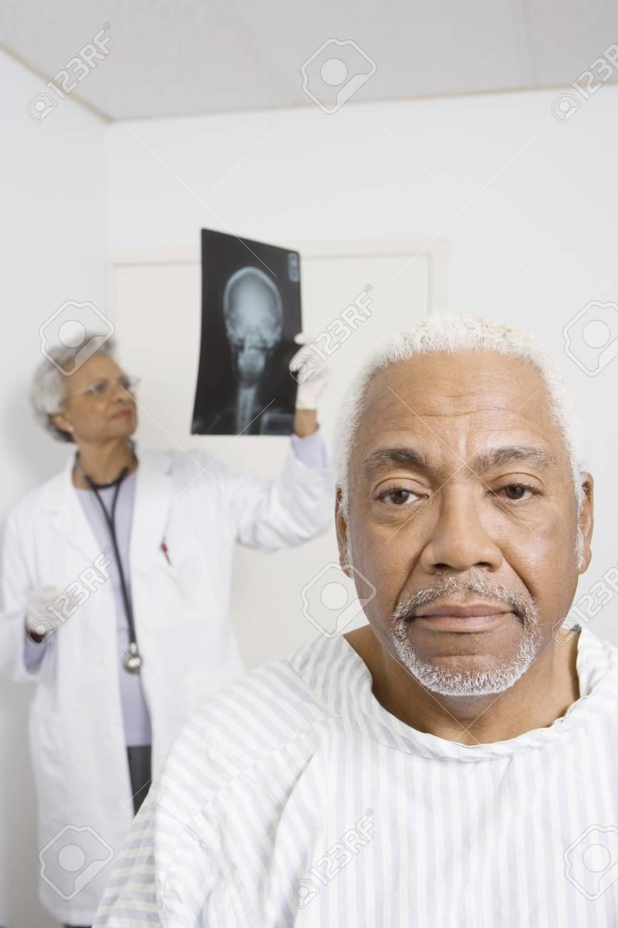 Portrait of senior man waiting for healthcare results Stock Photo - 12738054