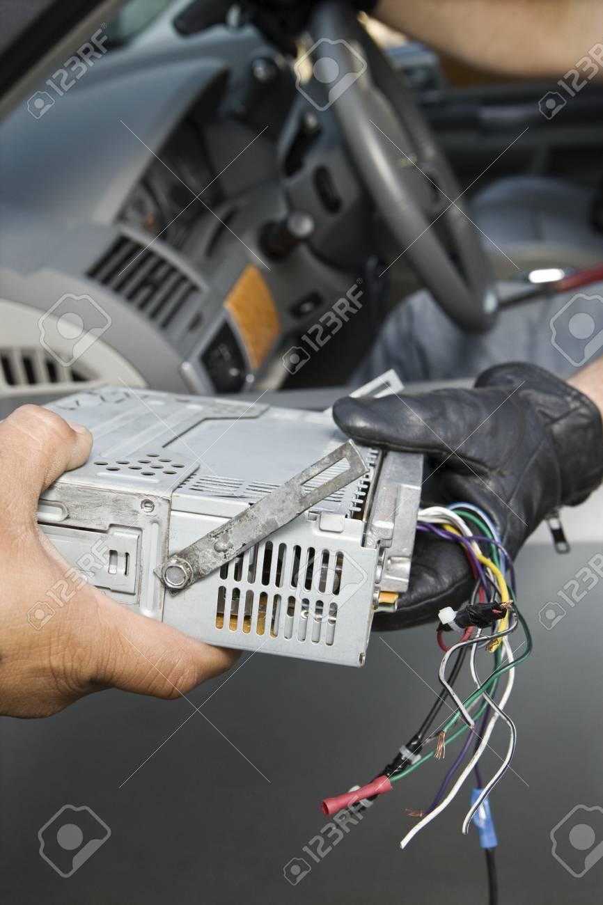 Theft of car radio Stock Photo - 12738151