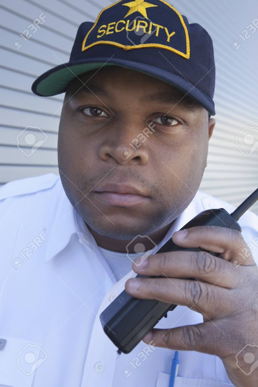 Security guard with walky talk Stock Photo - 12738269