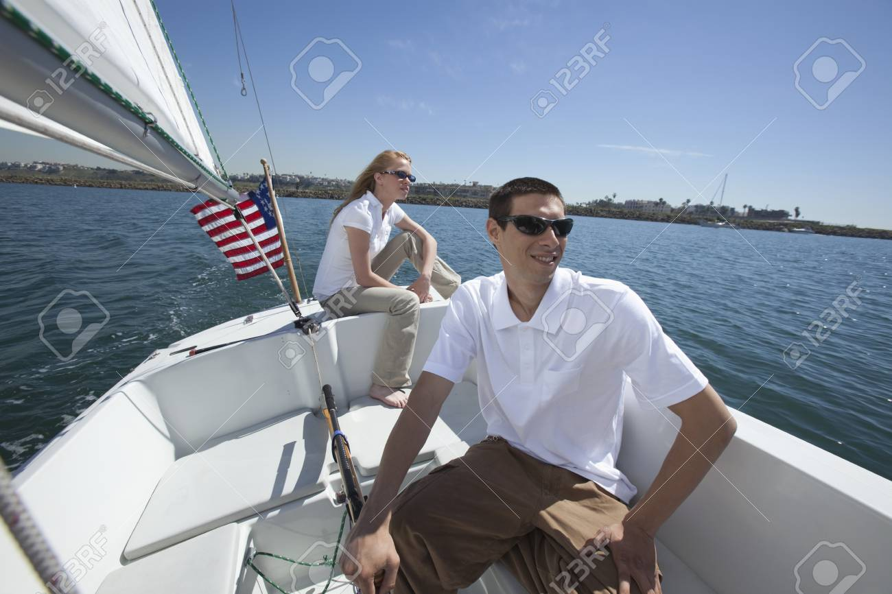 Young couple sailing Stock Photo - 12738274