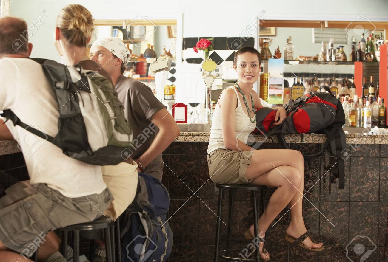 Hikers in Bar Stock Photo - 18886603