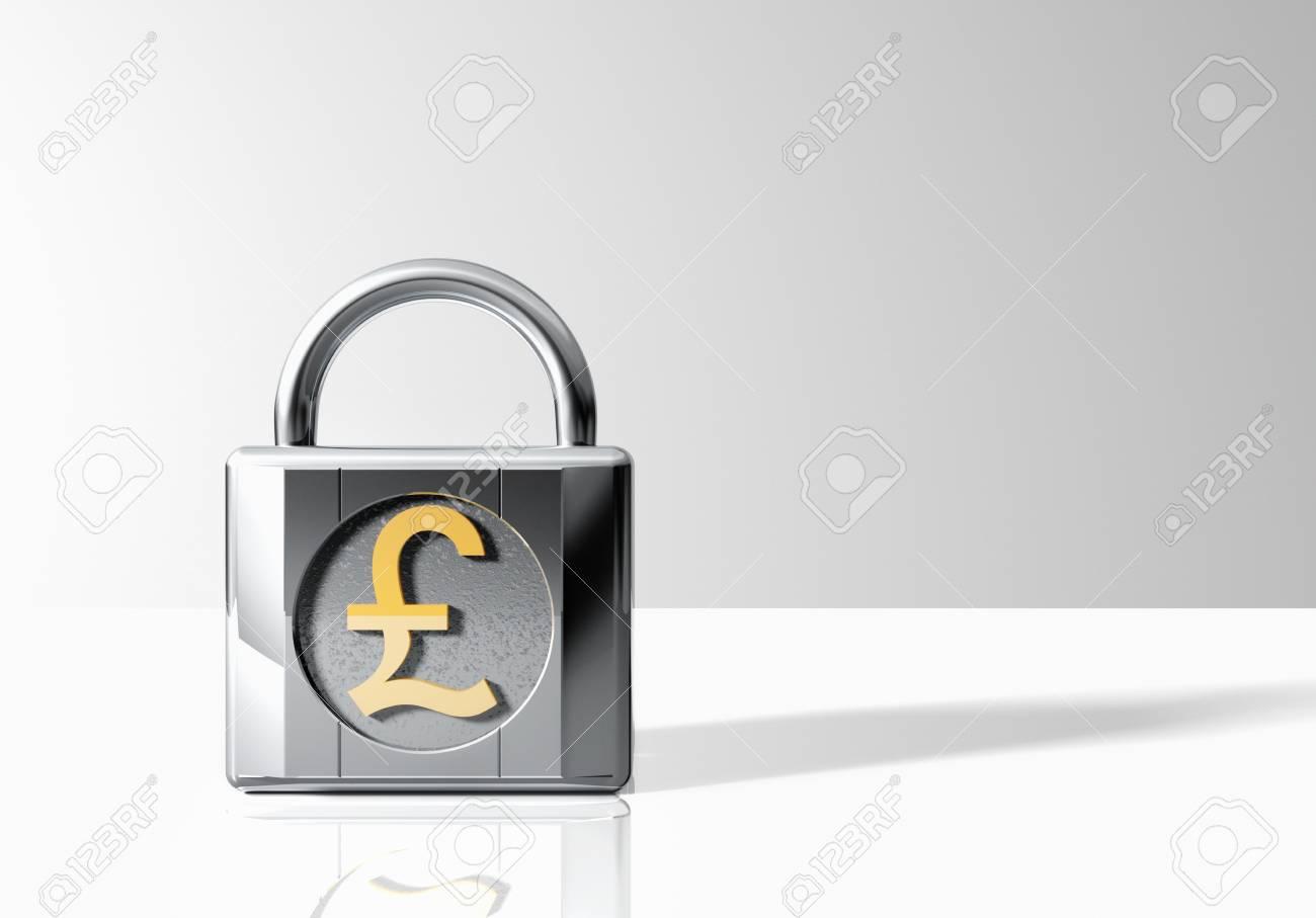 Padlock with Pound Sterling Symbol Stock Photo - 18886366